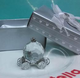 Wholesale Bridal Keepsake - Bridal Shower Souvenirs guests Crystal Pumpkin Coach Carriage Crystal Wedding Gifts Favors for guests keepsake 100pcs Wholesale