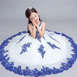 Wholesale Sleeveless Shirt For Children - New Arrival Flower Girl Dresses Sweet Backless Communion Party Pageant Dress for Little Girls Kids Child Dress for Wedding