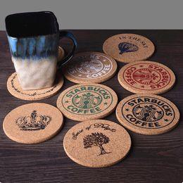 Prodotti termici online-Tazza di caffè Stuoia di legno Prodotti in stile Retro Cork Drink Sottobicchiere per il tè Decorazioni da tavola Isolamento termico Pad Multi Style Opzionale 1 8zw F R