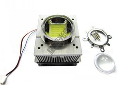 Wholesale Led Reflector Light Bulbs - Wholesale- 1pcs LED CPU Fan Heatsink+44mm Optical len+Reflector+Fixed Bracket+Fan Power Supply For 20w~ 50w LED Grow Bulb Light Cooling