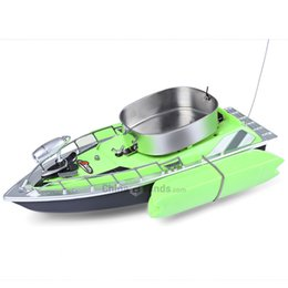 Wholesale Rc Boat Channel - Wholesale- New Arrival Electric Wireless Mini RC Bait Boat Fast RC Fishing Adventure Lure Bait Boat with US Plug EU Plug for Finding Fish