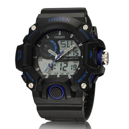 Wholesale Water Week - Brand Week Day Hours Digital Watch Waterproof Men's Clock Quartz Military Sport Mens Casual Wristwatches Boxed Package