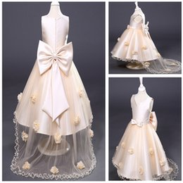Wholesale Inside Ball Gown - Ins Fashion Girls Swallowtail skirt Summer Prom Skirts High Quality Grenadine 100% Cotton Inside TUTU Style Dresses