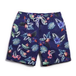 Wholesale Surf Board S - Board shorts men navy Blue summer swimwear mens joggers bodybuilding short plavky man brand surf bathing suit men's swimming gym