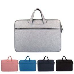 Wholesale Briefcase Nylon - Waterproof Shockproof Laptop Bag Sleeve Case For Macbook AIR PRO RETINA 11 12 13 14 15 15.6 inch Notebook Bag for ladies and man