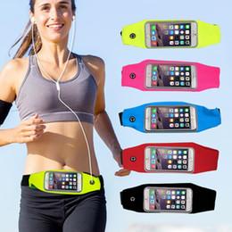 Wholesale Waterproof Pocket Belt - Universal Waterproof Sport Running Waist Belt pouch Reflective stripe Bag Gym Armband for iphone 7 plus S8 S7 free DHL