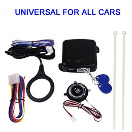 Wholesale Rfid Car Security System - Alarm System Driving Security Push Button Engine Start RFID Lock Ignition Starter Entry System For All Car