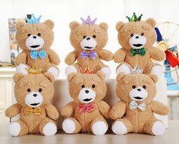 Wholesale Teddy Bear Pendants Wholesale - 20CM Bow Tie Teddy Bear Mini Joint Plush Keychain Bear Bouquet Toy Phone Pendant Animal Plush Toys Dolls