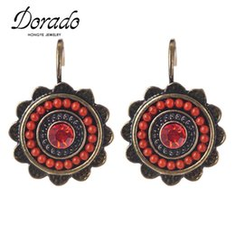 Wholesale Cheap Earrings For Women Sale - Dorado New Ethnic Jewelry Charming Vintage Resin Beads Drop Earrings For Women Fashion Earring Big Discount Cheap Sale