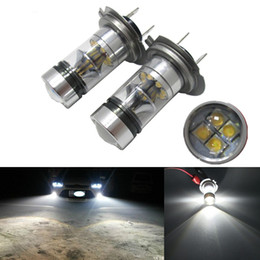 Wholesale White Led H7 Bulbs - H7 led 16 SMD LED 100W Reverse Vehicle auto fog Head Light Driving Light 5500 to 6500K daytime running light