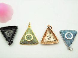 Wholesale Gold Filled Findings - Wholesale 4 PCS Mosaic turquoise Triangular Pendant, Turquoise Necklace Pendant For Making Necklaces Jewelry,Jewelry Finding