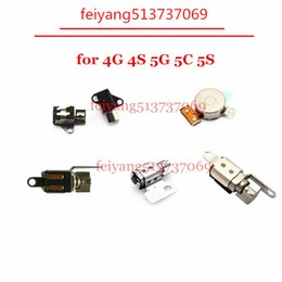 Wholesale Vibration For Iphone 4s - 10pcs Original For iPhone 4 4S 5 5C 5S Vibrator Module flex cable motor vibration Replacement Parts buzzer Assembly