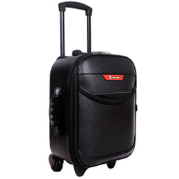 Wholesale Vintage Carry Luggage - Hot Sale 16inch Men Women Trolley Travel Bags Suitcase Wheels Vintage Travel Luggage Password Lock Boarding Rolling Luggage JO0019