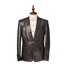 Wholesale Evening Blazer - Wholesale- New 2017 Spring Autumn leisure Suits Men Slim Suit Coat Blazer Masculino Men Party Evening Dress Blazer Slim Fit Men Suit Jacket