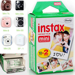 Wholesale Fuji Instax Mini Film - 1 piece = 20 Sheets White Instax Mini Films for Fuji Mini 90 8 25 7S 50s Hot Sale