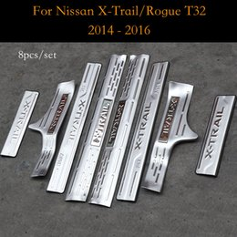 Wholesale door sill scuff plate nissan - For Nissan X-Trail Rogue T32 Door Sill Scuff Plate Cover Trim Welcome Pedal Decoration X Trail XTrail 2014 to 2016 Car Accessories