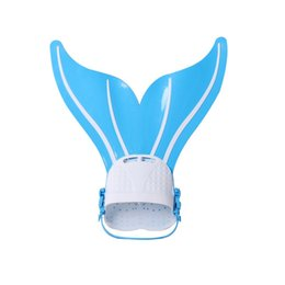 Wholesale Fins For Diving - Cute Kid Children Mermaid Swim Fin Diving Monofin Swimming Foot Flipper Summer Cute Swimming Fins for Kid  Adult Mermaid Swim Fin Swimming