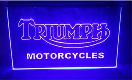Argentina tr04 Triumph Motorcycles Services Reparaciones cerveza bar pub club 3d signos led luz de neón decoración del hogar artesanías Suministro