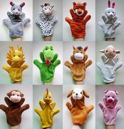 Wholesale Zodiac Hand Finger Puppets - 23*13cm Big Zodiac animal hand puppet doll storytelling for children in kindergarten 12 zodiac plush toys finger even