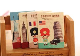 Wholesale Notepad Designs - Vintage Buidling Design Notebook Notepad Memo memo pads notepad book Diary journal note for Kids Gifts