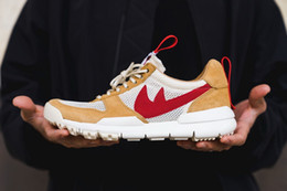 Wholesale Laces Yard - 2017 Tom Sachs x Craft Mars Yard 2.0 TS NASA Running Shoes For Men Natural Red Crafts Sports Sneakers Designer Shoes Zapatillas Vintage