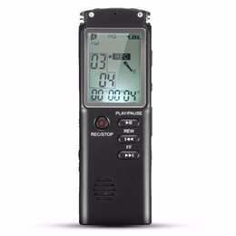 Wholesale Portable Voice Recorders - Wholesale- Portable 8GB LCD Digital Audio Voice Recorder Dictaphone Rechargeable MP3 Player With Earphone Built-in Microphone