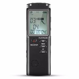 2019 usb pen mp3 player radio Atacado-Portátil 8GB LCD Digital Audio Voice Recorder Ditafone recarregável MP3 Player com fone de ouvido Microfone Embutido