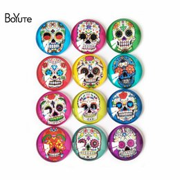Wholesale Cabochon Mix - BoYuTe Cabochon Supplies for Jewelry Making 10 Sizes Mix Image Round Transparent Glass Skull Cabochon Diy Jewelry Accessories