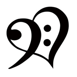 Wholesale Sticker For Car Music - New Product For Bass Clef Heart Vinyl Decal Car Styling Sticker Car Window Jdm Bumper Symbol Love Music Accessories Decorate