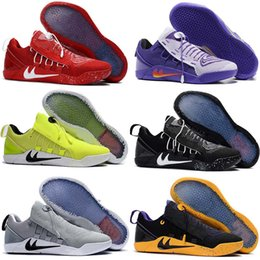 Wholesale T Cheap Basketball - 2017 Top quality Kobe 12 XII NXT Playoffs Men's Basketball Shoes for Cheap Sale KB 12s Training Sports Sneakers Size 40-46 Free Shipping 1 T