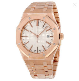 Wholesale 18kt Gold Watches - Royal Oak Automatic Silver Dial 18kt Rose Gold Men's Watch 15400OROO1220OR02