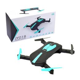Wholesale App Cameras - drones with cameras 2.0 Mega WIFI JY018 2.4G Portable mini Selfie Drone Pocket Folding Quadcopter FPV Camera RC Helicopter