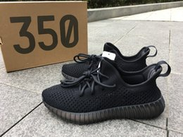 Wholesale Camping Earth - 350 v2 kanye west Sply 350 Boost Dark Green Earth Light Blue cream White Cream white black Running Shoes Children shoes With box