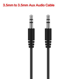 Wholesale aux extension - 2017 Hot Sale 50cm Black Aux Auxiliary Cable 3.5mm Male to Male Audio Cables Stereo Car Extension Wires Cords for Digital Devices