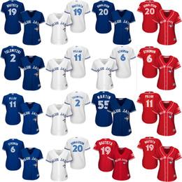 Wholesale Size 11 Women S - Women's Toronto Blue Jays 20 Josh Donaldson 19 Jose Bautista 6 Marcus Stroman 11 Kevin Pillar 55 Martin Baseball Jerseys Stitched size S-2XL