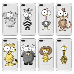 Wholesale Iphone Cell Phone Pictures - For Apple iphone 5 5S SE 6 6S plus iphone 7 plus silicone case Plating TPU cell phone cases animal picture