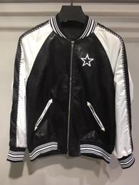 Wholesale Men Slim Suit Branded - 2017 Autumn winter brand Chest embroidery pentagram Jacket Hip Hop Suit Pullover Winter Jacket Men Coat fashion men Casual