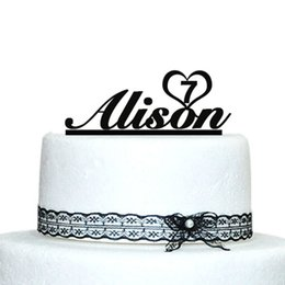 Wholesale Personalized Birthday Cakes - Wholesale- Birthday Cake Topper, Custom Name Birthday Cake Topper, Personalized Birthday Cake Topper, Baby Shower Decoration Casamento