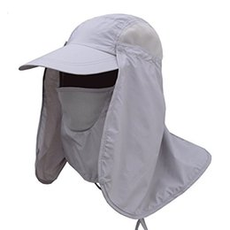 Wholesale Uv Hat Neck Protection - Quick Dry Summer Fishing Hat UV Protection Sun Hat Folding Removable Neck Face Mask Head Flap Cover Cap for Outdoor Activities
