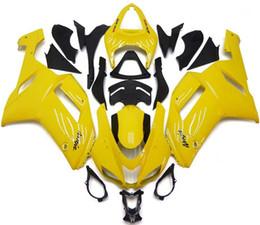 Wholesale Yellow Zx6r Fairing - New ABS Motorcycle bike Fairing kits Fit for KAWASAKI Ninja ZX6R 07 08 ZX6R 636 2007 2008 bodykits yellow glossy