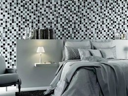 Wholesale Reflection Sound - Wholesale- 6pcs lot sticker wallpaper 3D DIY mosaic self-adhesive decal peel and stick wall tile for kitchen bathroom home covering decor