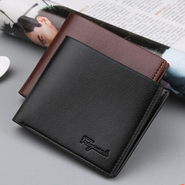 Wholesale Korean Style Dress For Men - New Arrival Student Boy Wallets For Mens Brand Designer Bifold Money Purse High quality Party Traver Wallet Credit Card Case Black Color