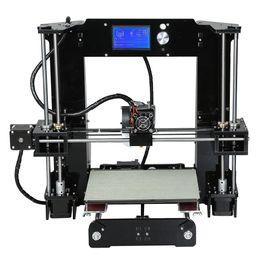 Wholesale 3d Printer Filament Pla - Freeshipping Easy Set Anet A6&A8 3d Printer Big Size High Precision Reprap Prusa i3 DIY 3D Printing Machine+ Hotbed+Filament+SD Card+LCD