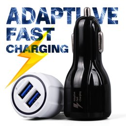 Wholesale Oem Car Chargers - Adaptive FAST Charger Charging Rapid Phone Car Quick 3.1A Dual USB For iphone 6 7 OEM Samsung Galaxy S7 S6 edge