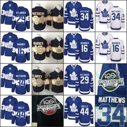 Wholesale Gold Leafs - 2017 Centennial Classic Men Toronto Maple Leafs 100th 34 Auston Matthews Mitch Marner Rielly Nylander Clark Hockey jersey Stitched
