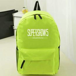 Wholesale Super Junior Bags - Super Show backpack Junior 5 day pack Fans school bag Music star rucksack Sport schoolbag Outdoor daypack