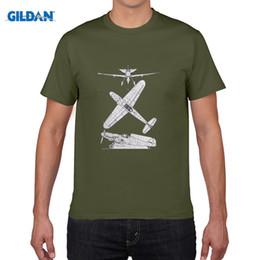 Wholesale Airplane Drawings - MESSERSCHMITT ME 109 BF TECH DRAWING MENS T SHIRT PLANE AIRCRAFT AIRPLANE GERMAN New Fashion T-Shirt Graphic Letter