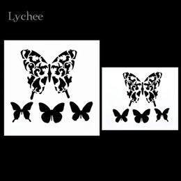 Wholesale Mask Painting Butterfly - Wholesale- DIY Layering Stencils Masking Spray Painted Template Drawing Stencils Laser Cut Embossing Scrapbooking Tool Card Butterfly