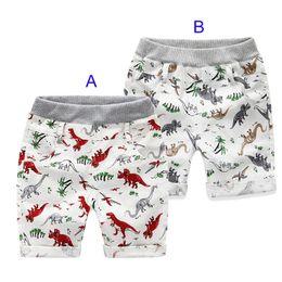 Wholesale Dinosaur Pants - 2 Color kids INS dinosaur pants baby toddlers Summer boy girl ins animal dinosaur geometric figure pants shorts Leggings B001