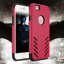 Wholesale Bat Case Iphone - Bat Defender Cases For Iphone 7 7 plus Plastic TPU Shockproof 100% Fitted Cell Phone Case Cover